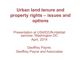 presentation - Land Tenure and Property Rights Portal