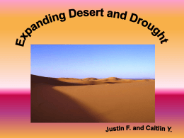 Deserts and Drought