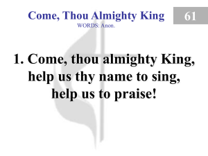 061 – Come, Thou Almighty King