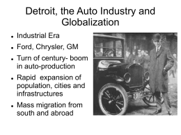 Anna Flegler: Detroit, the Auto Industry and Globalization