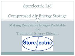 Compressed Air Energy Storage (CAES)