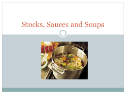 Stocks, Sauces and Soups