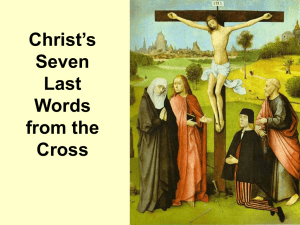 Christ`s Seven Last Words from the Cross