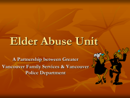 WA5 - Vancouver Police Department`s Elder Abuse - Mms