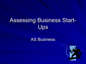 Assessing Business Start-Ups