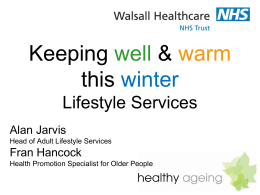 Healthy Lifestyles - Walsall Healthcare NHS Trust