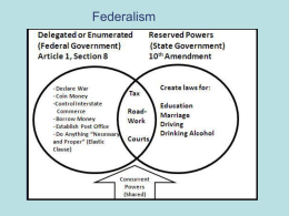 Federalism - Mr. Ognibene`s AP Government Page