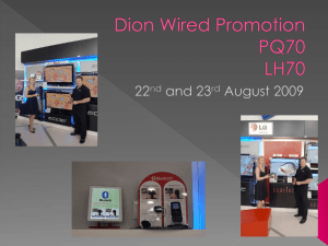 Dion Wired Promotion