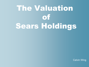 A. The Valuation of Sears