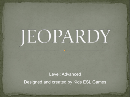 Jeopardy Advanced Level PowerPoint - Shapes