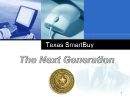 TxSmartBuy - The Next Generation