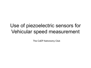Use of piezoelectric sensors for Vehicular speed measurement