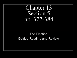 Chapter 13 Section 5 pp. 377-384