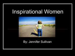 Inspirational Women PowerPoint Presentation
