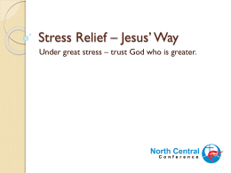 Stress Management – Jesus` Way