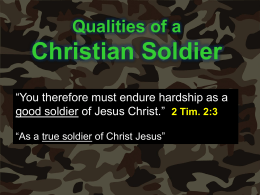 Qualities of a Christian Soldier