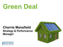 Green Deal measures - Wychavon District Council