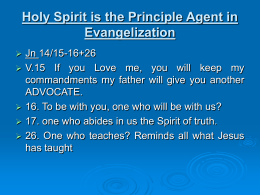 Relationship with Holy Spirit