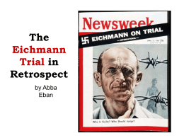 The Eichmann Trial in Retrospect