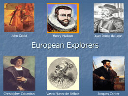 SS4H2 The student will describe European exploration in North