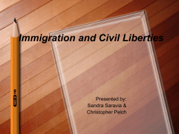 Immigration and Civil Liberties