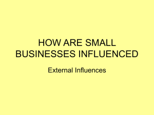 3. External influences