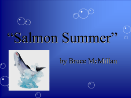Vocabulary Words T6S1 Salmon Summer