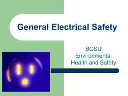 Electrical Hazards - Bowling Green State University