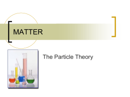 SNC1D Particle Theory