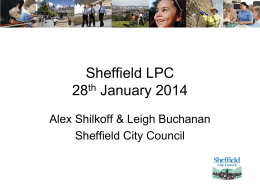 (CSW) Project, Sheffield City Council – Alex & Leigh LPC
