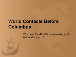 PowerPoint: World Contacts Before Columbus