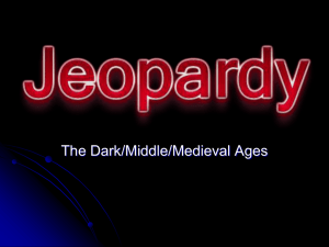 Dark Ages Jeopardy 1