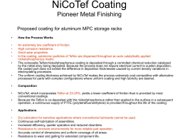 NiCoTef-Coating