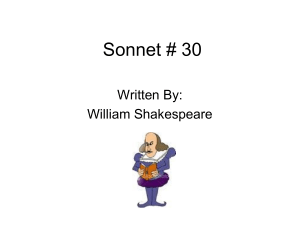 Sonnet 30 by William Shakespeare