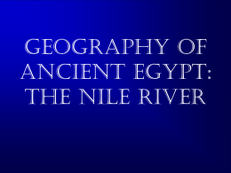 Geography of Egypt: The Nile River