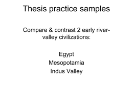 compare and contrast river valley civilizations