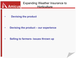Extending Weather Insurance to Horticulture