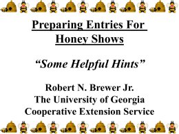 Honey Show Hints (for reference only)