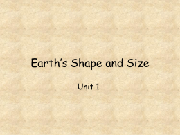 Earth`s Shape and Size - Hicksville Public Schools / Homepage