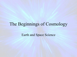 The Beginnings of Cosmology