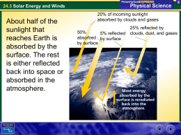 24.3 Solar Energy and Winds