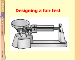 Designing a fair test Which flame of the Bunsen burner is hotter?