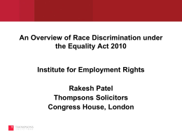defined by the law - The Institute of Employment Rights