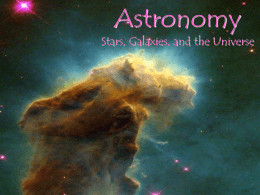 Astronomy (stars, galaxies and the Universe)