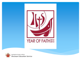 Year of Faith assemblyi - The Nottingham Roman Catholic