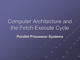 Parallel Processor Systems Presentation