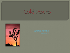 cold deserts - Lewiston School District