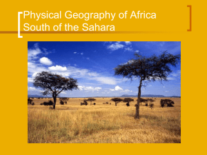 Africa 4 - South of the Sahara 1 - Sayre Geography Class