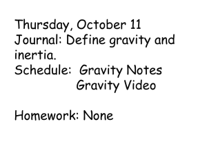 Gravity Notes - Spring Lake Park Schools