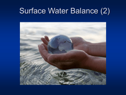 Surface water balance
